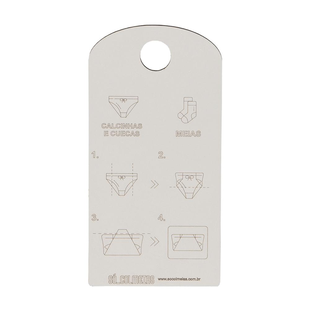 Gabarito para Dobra de Calcinhas MDF - 10x20cm (ZIG 1)