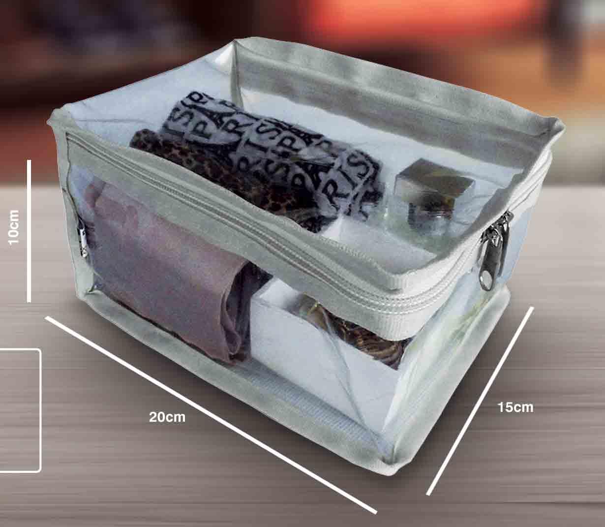 Organizador Plástico - Mala da Mala 1 - 15X20X10CM Branco