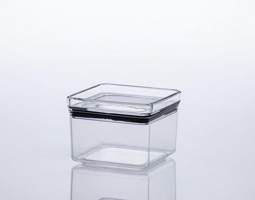 Pote Hermético de Acrílico Cristal Quadrado - (480ml)