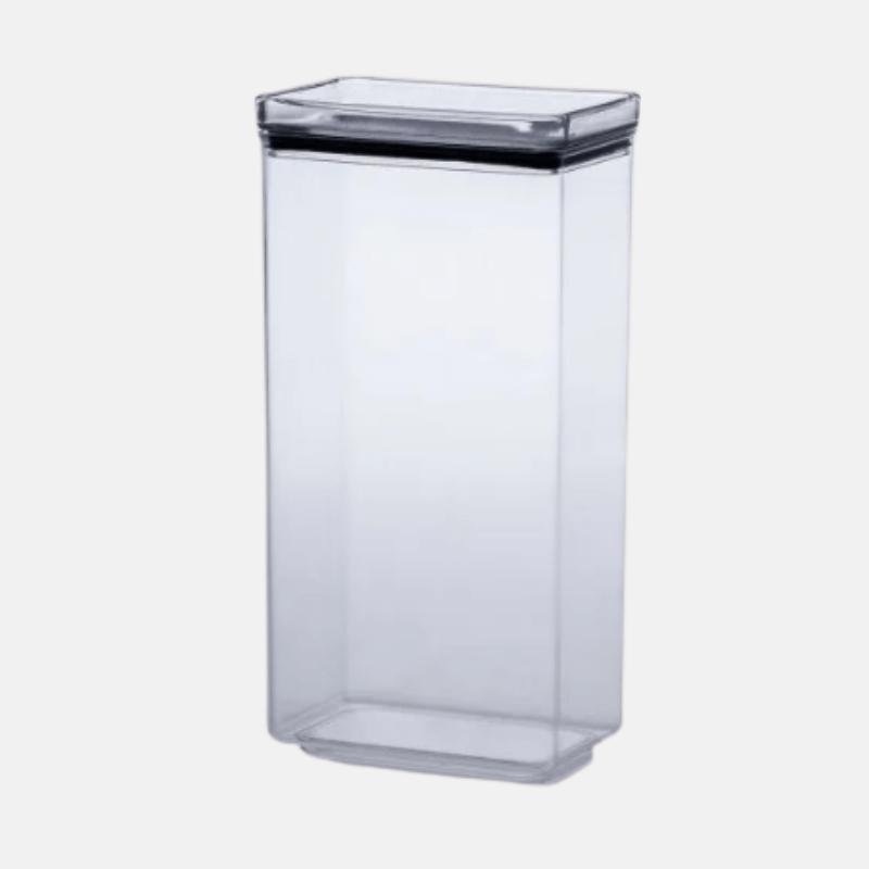 Pote Hermético de Acrílico Cristal Retangular - (2.600ml)