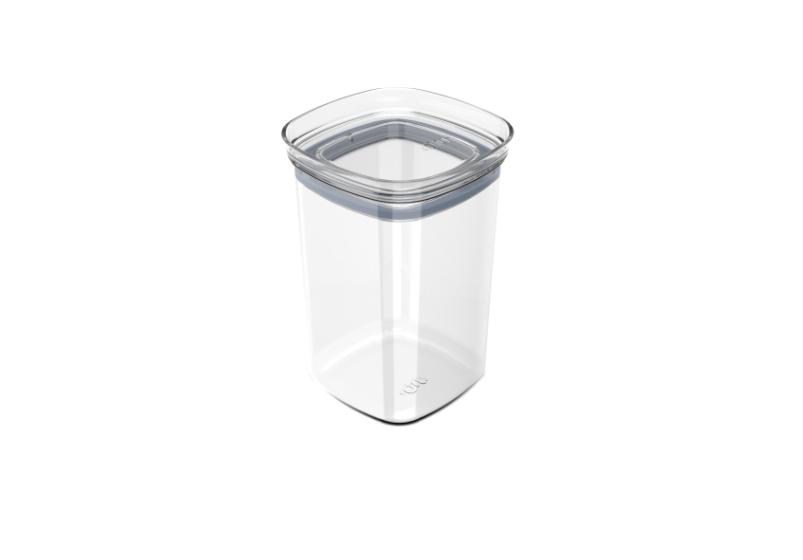 Pote Hermético Block 1 Litro Acrílico Cristal