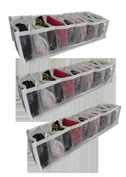 PROMOÇÃO - ZIG 1 Branco (Kit com 3) + Dobrador de roupas em ACRÍLICO - 10x20cm