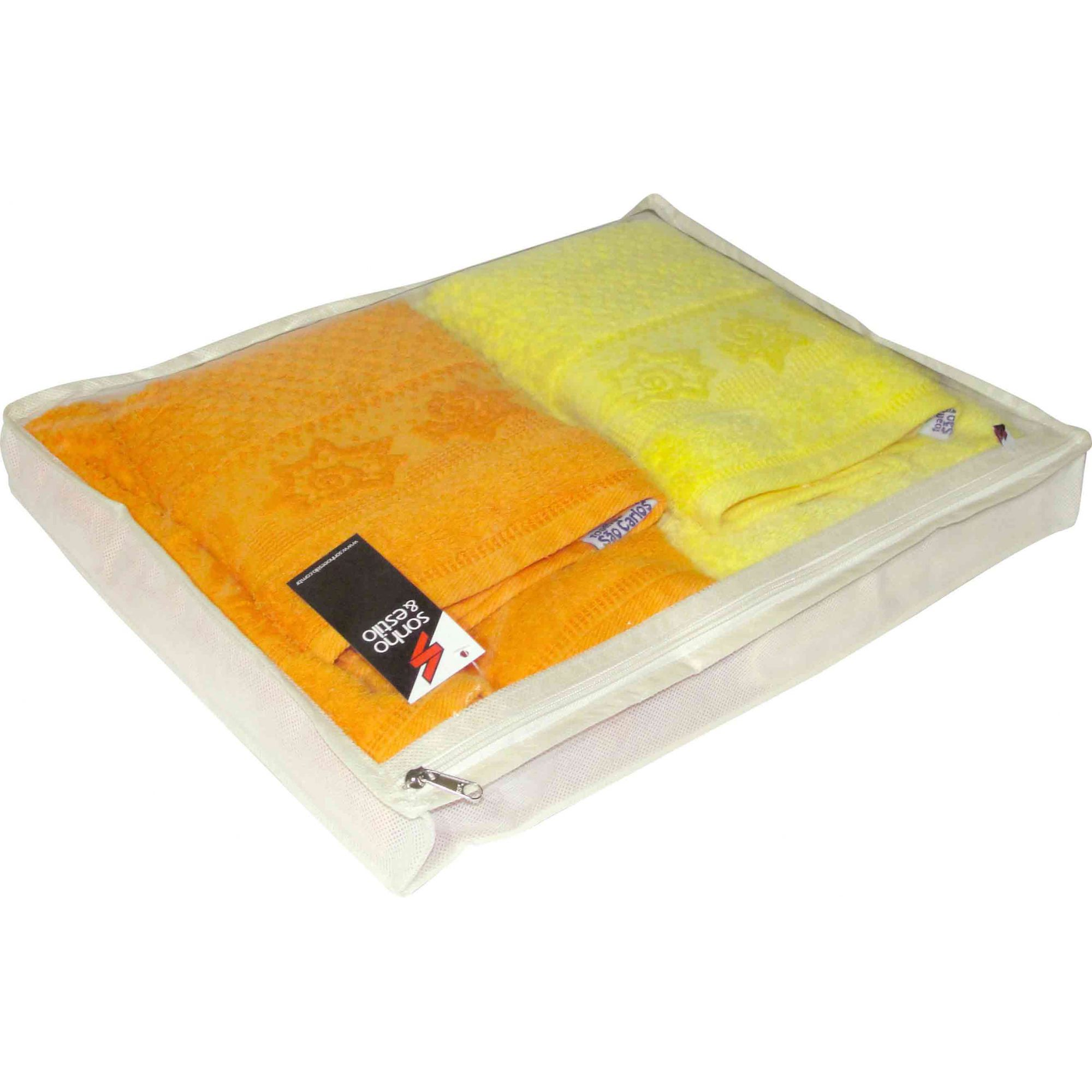 Protetor p/ Lençol/Toalha Tam. 2 48x37x6cm Branco