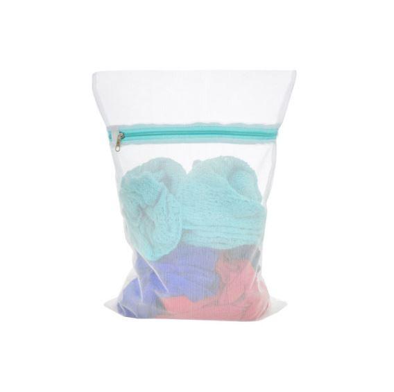 Saco Para Lavar Roupas com Zíper - TAM P