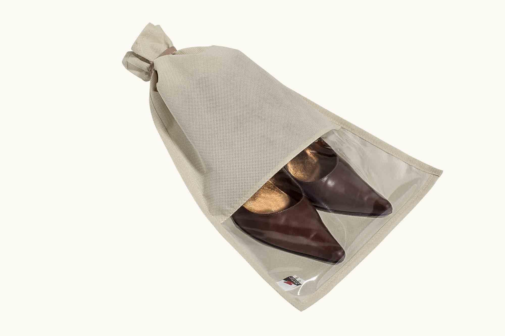 Saco Protetor p/ Sapatos - Sapassaco Mod. Feminino 27x42CM Bege