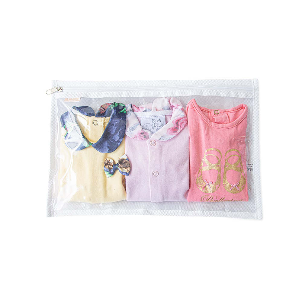 Saquinho Maternidade Kit Com 3 Unidades Branco