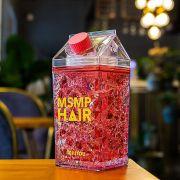 Copo Gel congelante Squeeze Garrafa canudo bico Vermelho 400ml