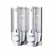 Dispenser Duplo Shampoo Sabonete Liquido Alcool Banheiro Hotel Casa Shopping