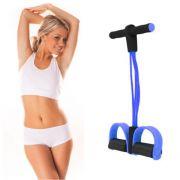 Exercicio Fisico Extensor Elastico Para Ginastica  Academia resistência 4 tubos azul
