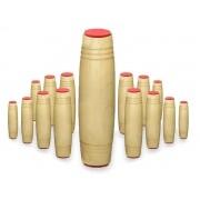 Fidget Mokuru Stick Bastao Roller Anti Stress Madeira Kit com 15 Unidades (bsl-gira-4 mokuru kit-15)