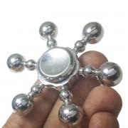 Hand Spinner Fidget De Metal Leme Prata Mania Gira Ansiedade Anti Estresse (bsl-gira-10)