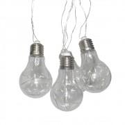Varal Luminaria 10 lampadas led branco quente decoracao interna externa casamento festas eventos Cortina
