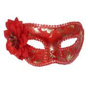 Mascara Fantasia Carnaval kit 6 uni Festa Eventos Baile Vermelho