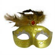 Mascara Fantasia Carnaval kit com 6 unidades Amarelo Eventos Festa Baile