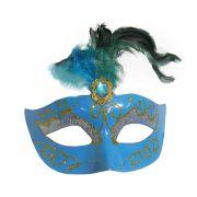 Mascara Fantasia Carnaval kit com 6 unidades Azul Eventos Festa Baile