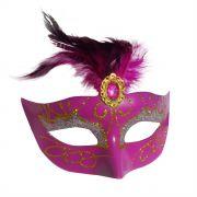 Mascara Fantasia Carnaval kit com 6 unidades Rosa Festa Eventos
