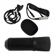 Microfone Condensador Unidirecional Profissional Estudio Youtuber Gravaçao Live Festa Audio Home Studio Musica Podcast