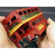 Onibus Vintage Retro De Londres Decorar Ferro Vermelho (Cj-008 Vermelho)