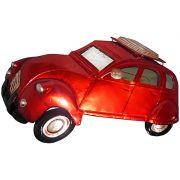 Quadro Carro Fusca 3d Para Parede Em Metal Espelhado para Decoração Vermelho Vintage (ENFT-6)