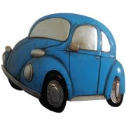 Quadro Fusca 3d Para Parede Em Metal Deco Vintage Carro Retro Azul (ENFT-5 Azul)