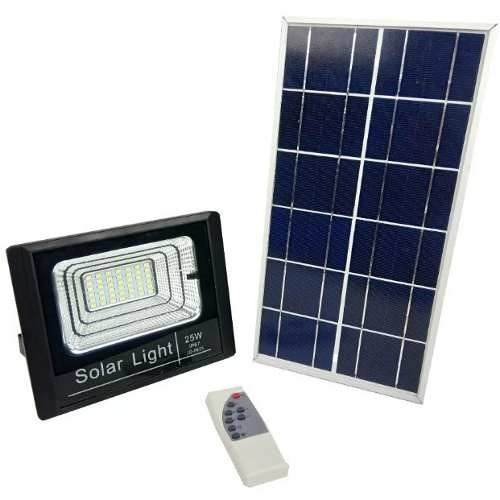 b2ee18ceced Refletor Led Holofote Solar 25w Luz Completo Controle Placa (ZEM-31549-A) -  BRASLU