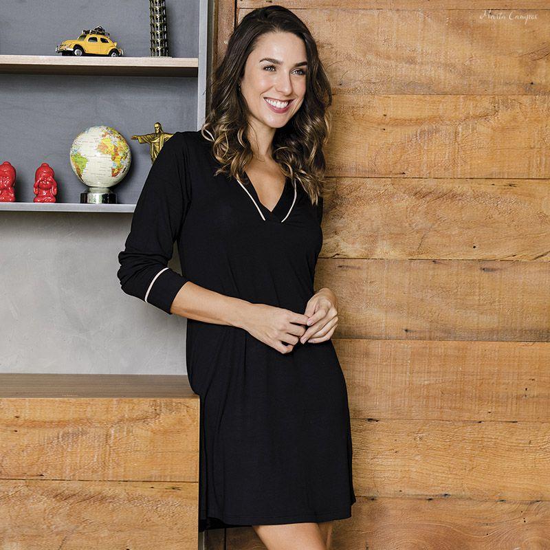 CAMISAO MANGA LONGA   - Marta Campos Lingerie
