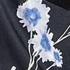 Preto Floral Azul