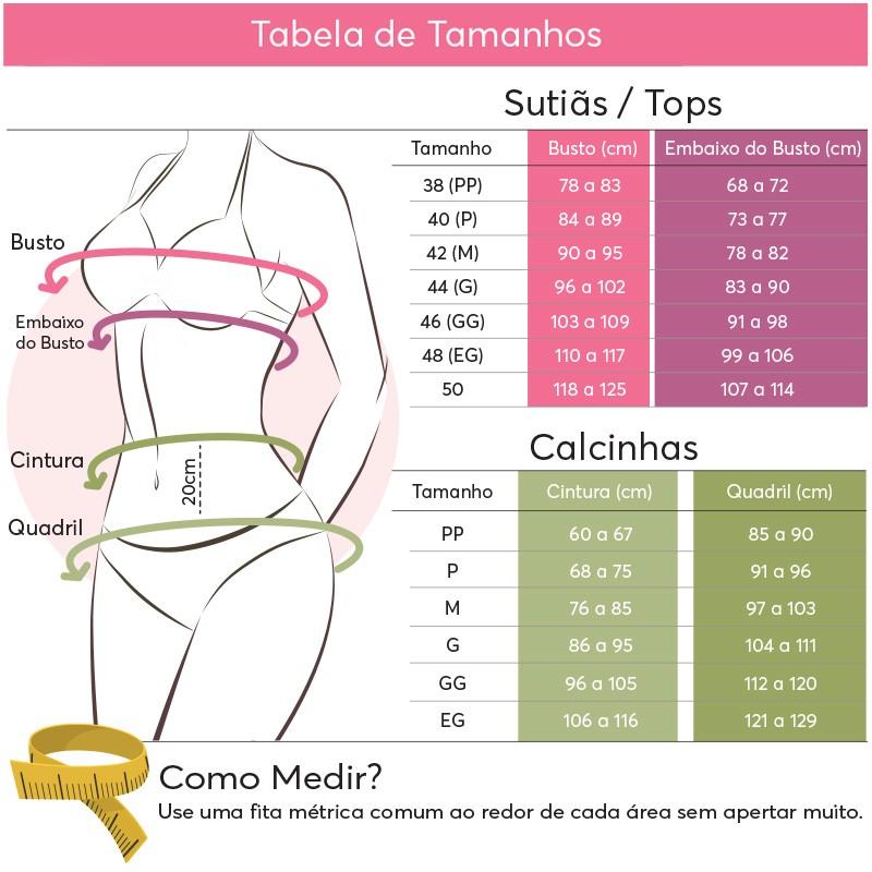 SUTIÃ TOP COM ARCO COM BOJO  - Marta Campos Lingerie