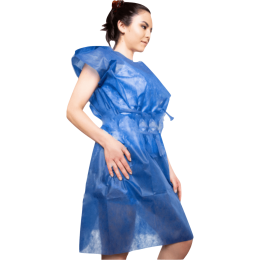Avental Descartável Gr 30 Azul Sem Manga 10un Anadona