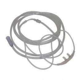 Cateter Nasal Adulto tipo Óculos de Silicone 2,10m Kit com 5un