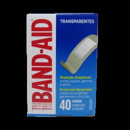 Curativo Transparente Proteção Respirável 40un Band Aid kit 4 cx