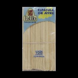 Espátulas de Ayre Madeira com 100un Estilo Kit 5 Pcts