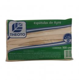 Espátulas de Ayre Madeira com 100un Theoto Kit 5un