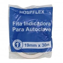 Fita Indicadora para Autoclave 19mm x 30m Hospflex kIt 4un