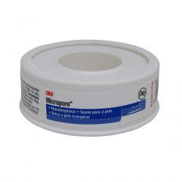 Fita Micropore 12,5mm x 10m Hipoalergênica Branca 3M