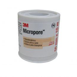 Fita Micropore 50mm x 10m Hipoalergênica Pele 3M