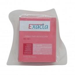 Lâmina Microscopia 26x76 Ponta Fosca c/50un Exacta Kit 10 caixas