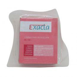 Lâmina Microscopia 26x76 Ponta Fosca c/50un Exacta Kit 20 caixas