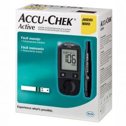Medidor de Glicose Completo Accu Chek Active Roche