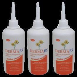 Óleo de Girassol Cicatrizante 200ml Dermaex Kit 3un