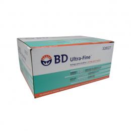 Seringa Insulina Ultra Fine 100UI 12,7x0,33mm BD 10un Caixa 10 Pacotes