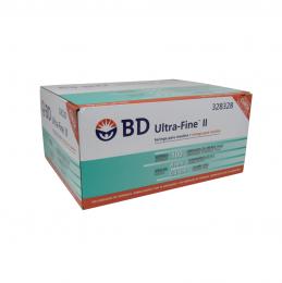 Seringa Insulina Ultra Fine 100UI x 8x0,3mm BD 10un Caixa 10 pacotes