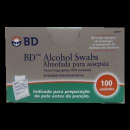Swab Almofadas para Assepsia Com Álcool 100un BD