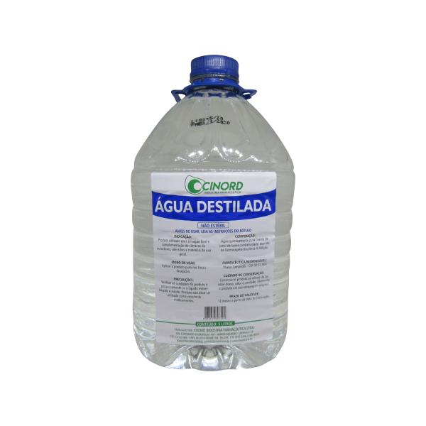 Água Destilada Galão 5 Litros Cinord Kit 2 Galões