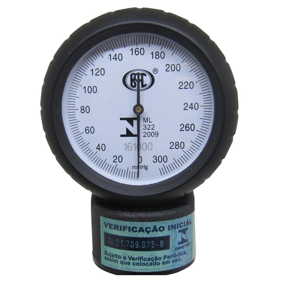 Aparelho de Pressão Metal Preto + Estetoscópio BIC