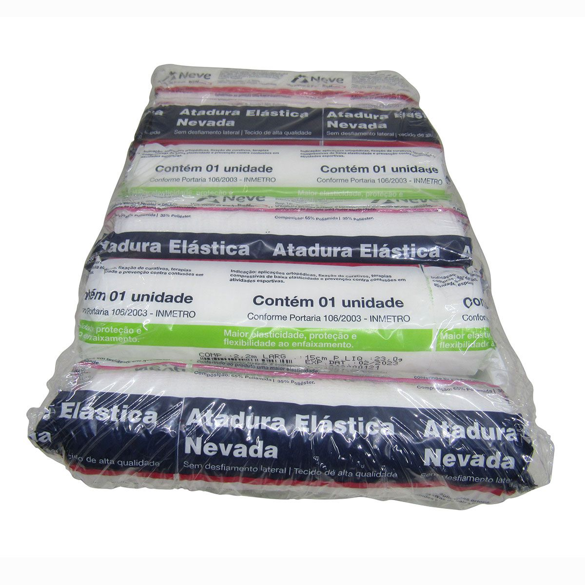 Atadura Elástica Nevada 15cm x 2,2m com 12un Neve