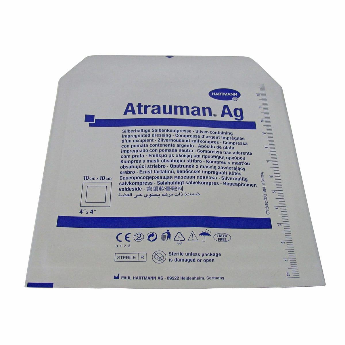 Atrauman Ag Compressa não Aderente 10x10cm Hartmann Kit 2 un