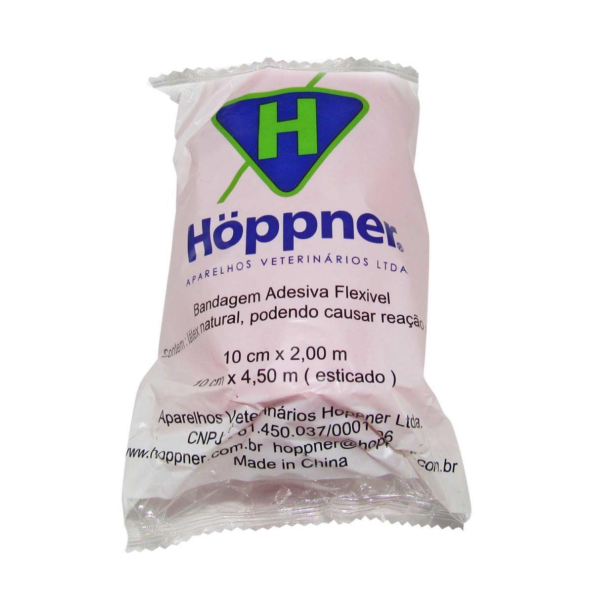 Bandagem Adesiva Hoppner 10cmx4,5m Kit 15 un cores variadas
