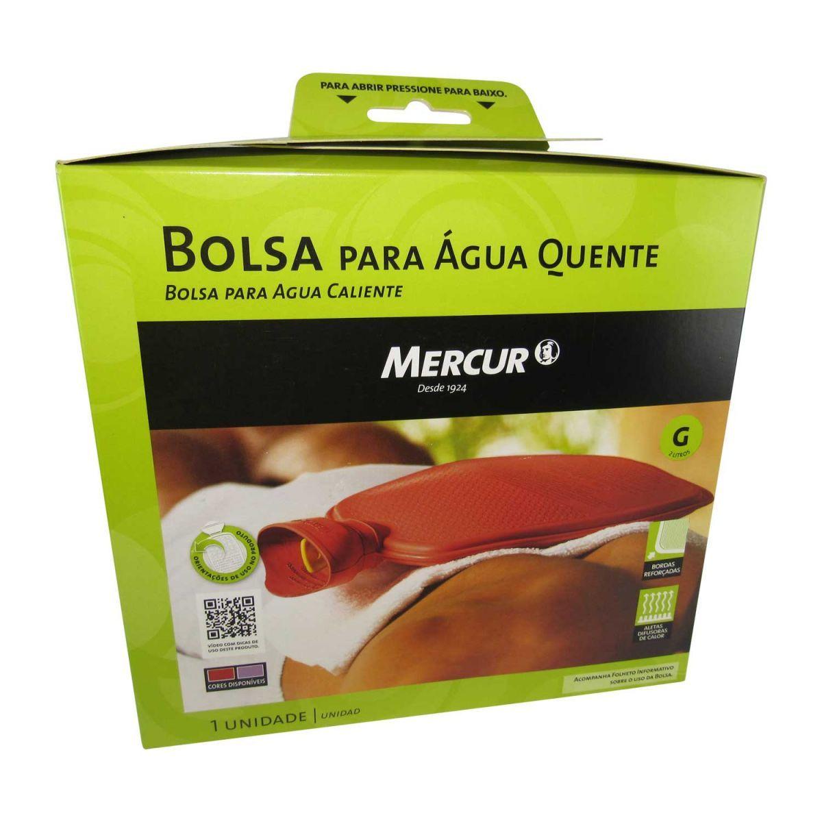 Bolsa para Água Quente Mercur Grande 2 litros