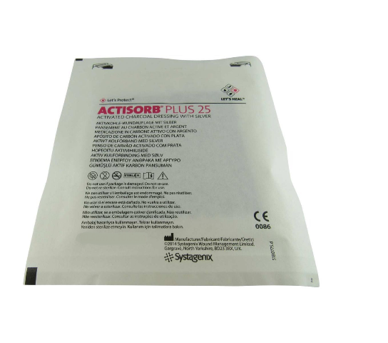 Curativo Carvão Ativado e Prata 10,5x19cm Actisorb Plus 25